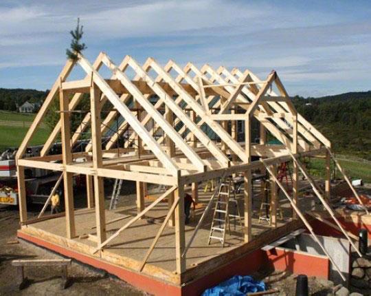 Каркасный дом от фундамента до крыши видео своими руками